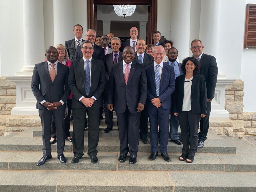 President and PPGI meeting members